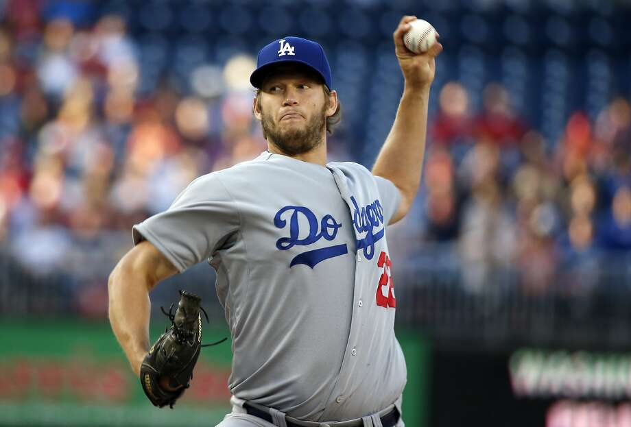 Los Angeles Dodgers starting pitcher Clayton Kershaw throws during the first inning of a baseball game against the Washington Nationals at Nationals Park, Tuesday, May 6, 2014, in Washington. (AP Photo/Alex Brandon) Photo: Alex Brandon, Associated Press