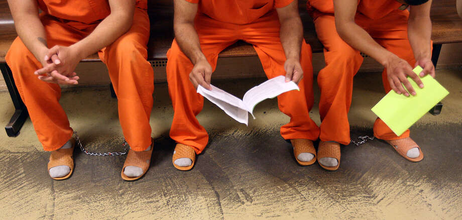 The Bexar County Jail is housing about 3,800 inmates, about 200 more than this time last year. Photo: Jerry Lara / San Antonio Express-News / © 2012 San Antonio Express-News
