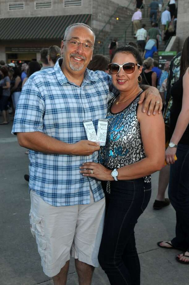 Fans outside the Cynthia Woods Mitchell Pavilion before Bruce Springsteen and the E Street Band's concert on May 6. Photo: Jerry Baker, For The Chronicle