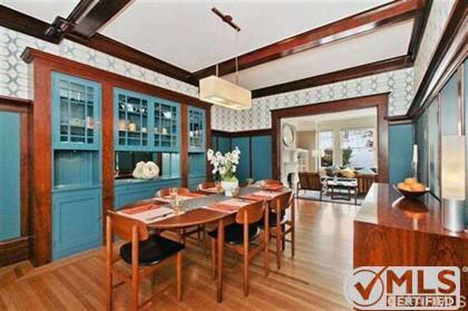 The formal dining room, with original built-ins, at 511 15th Avenue Photo: MLS