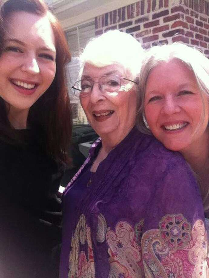 "Susan Williams: ""Emily Williams, Naurine Pyle, Susan Williams. Beaumont. 3 Generations."""