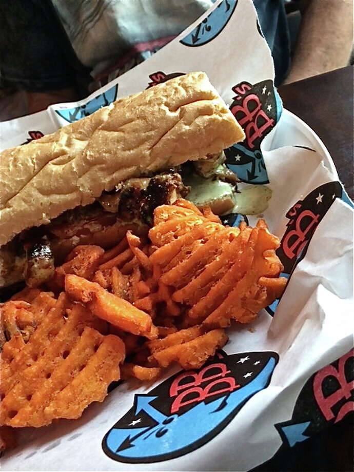 Waffle-cut weet potato fries at BB's Upper Kirby location on Richmond Ave. Photo: Alison Cook