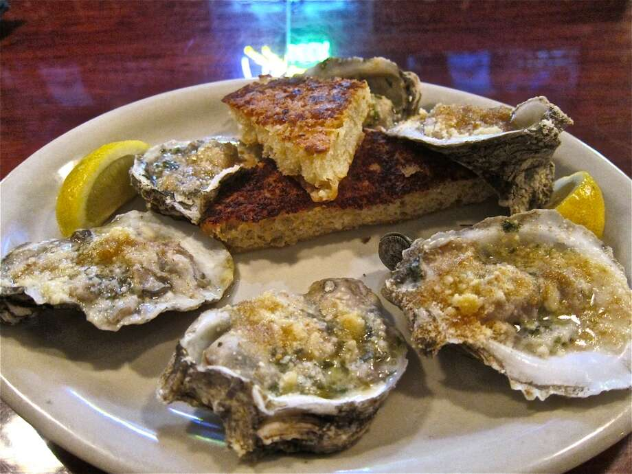 Cajun baked oysters at BB's Upper Kirby location on Richmond Ave. Photo: Alison Cook