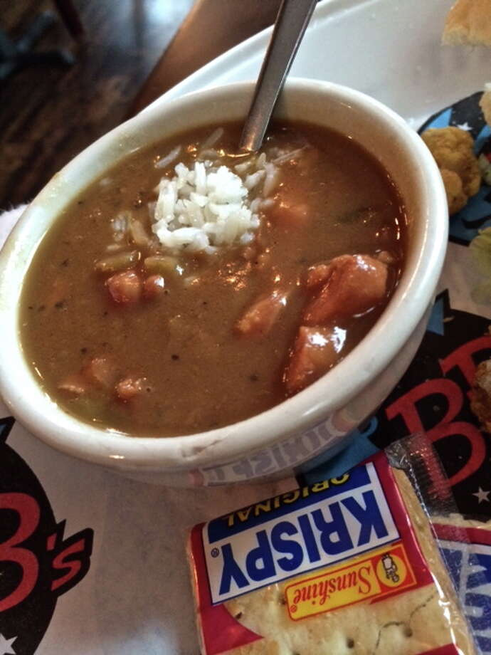 Gumbo at BB's  Upper Kirby location on Richmond Ave. Photo: Alison Cook