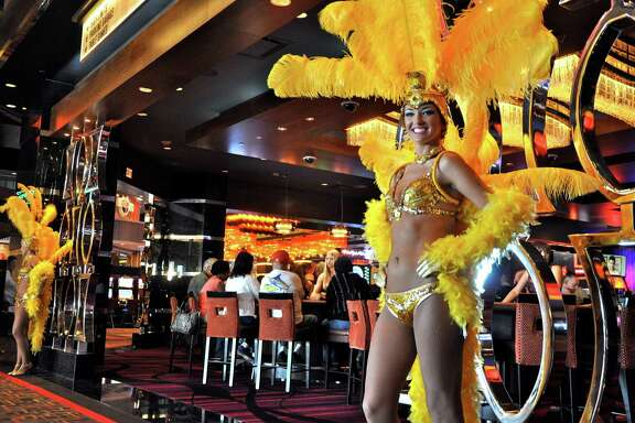 Show girls welcomed guests during the opening of the Golden Nugget Biloxi.