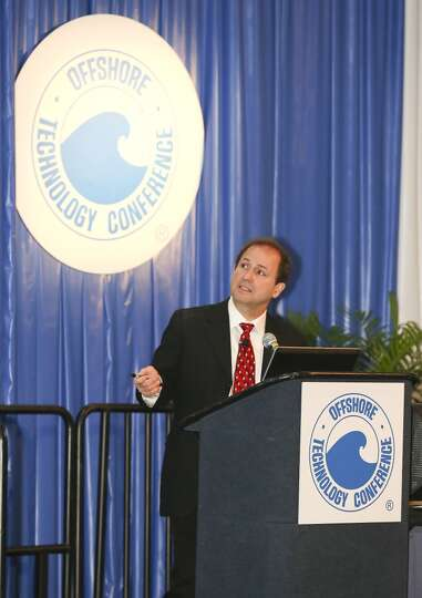 John Khachaturian talks about Offshore Decommissioning and Abandonment on day three of OTC on May 7,