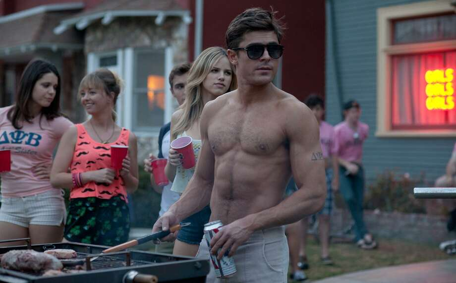 """Director Nick Stoller says the party scenes in """"Neighbors"""" - which stars  Zac Efron (pictured), Seth Rogen, Rose Byrne, Dave Franco and Christopher Mintz-Plasse - put filmgoers in the middle of the action. Photo: Columbia Pictures / © Universal Pictures"""
