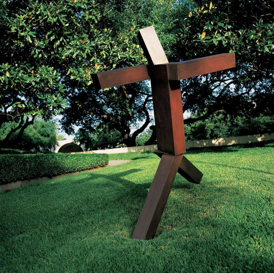 Joel Shapiro's Untitled is on display in the Lily and Hugh Roy Cullen Sculpture Garden. The Museum of Fine Arts, Houston is celebrating the garden's 20th anniversary with  lectures by Alison de Lima Greene at 6 p.m. April 6 and Joseph Havel at 6 p.m. April 20 in the museum's Brown Auditorium. Admission is free. Credit: Rocky Kneten Photo: Rocky Kneten / handout