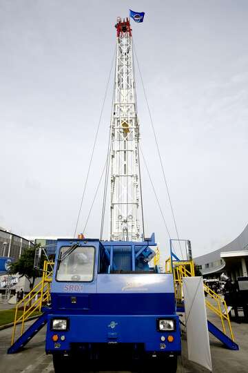 The Stewart and Stevenson heavy work over rig, weighs 42 tons and can bee seen on day three of OTC o