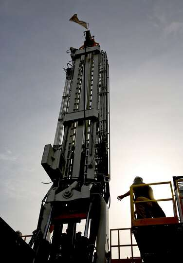The Schram T-250 Xdi;, a hydraulic drilling rig can be seen on day three of OTC on May 7, 2014 outsi