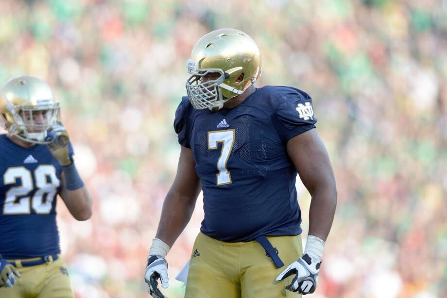14. Stephon Tuitt, DE  6-6, 304, Notre Dame Photo: Jackson Laizure, Getty Images