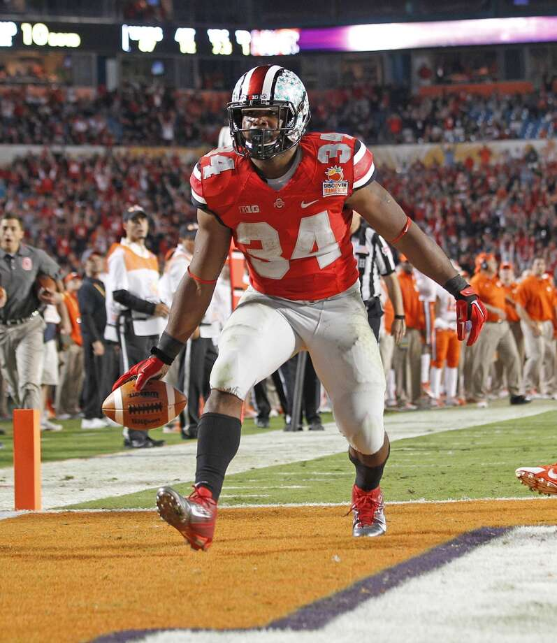 12. Carlos Hyde, RB  6-0, 230, Ohio State Photo: Joel Auerbach, Getty Images
