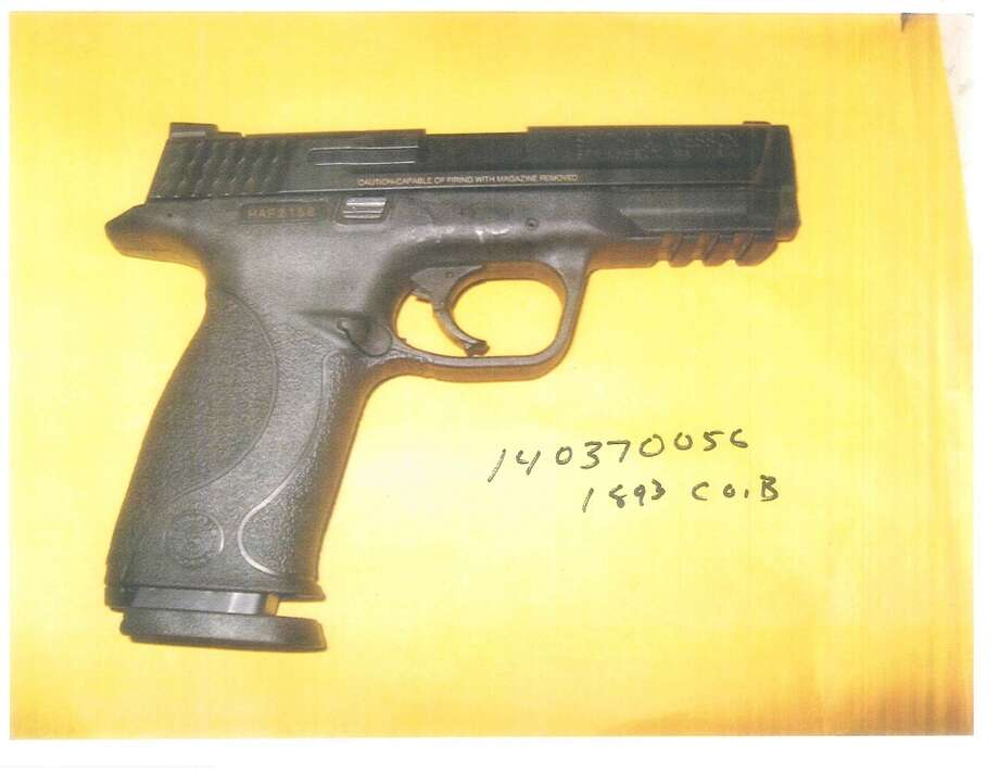One of three handguns recovered Sunday after police arrested four suspects in San Francisco's SoMa neighborhood.