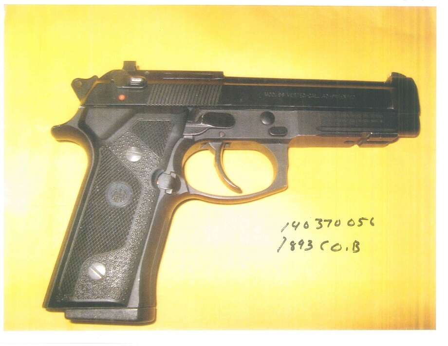 The second of three handguns recovered Sunday after police arrested four suspects in San Francisco's SoMa neighborhood.