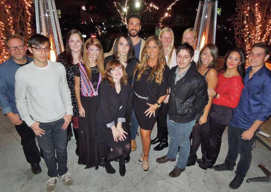 "Samantha Cole, owner of Danbury-based Celebrity Voice Coach, appears here (in the belted dress, center) with some of her talented vocalists. She will present a new showcase of her students during a dinner and music event on Thursday, May 15, at Max 40 in Danbury. Actor Vinny Vella, of ""The Sopranos"" and more, will be her co-host. Photo: Contributed Photo / The News-Times Contributed"