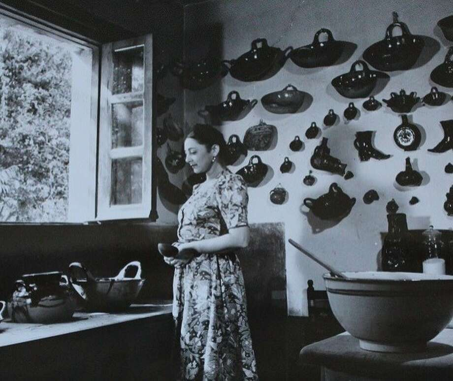 Rosa Covarrubias in her kitchen in Tizapán, Mexico, where she and her husband entertained. Photo: The Mexican Museum