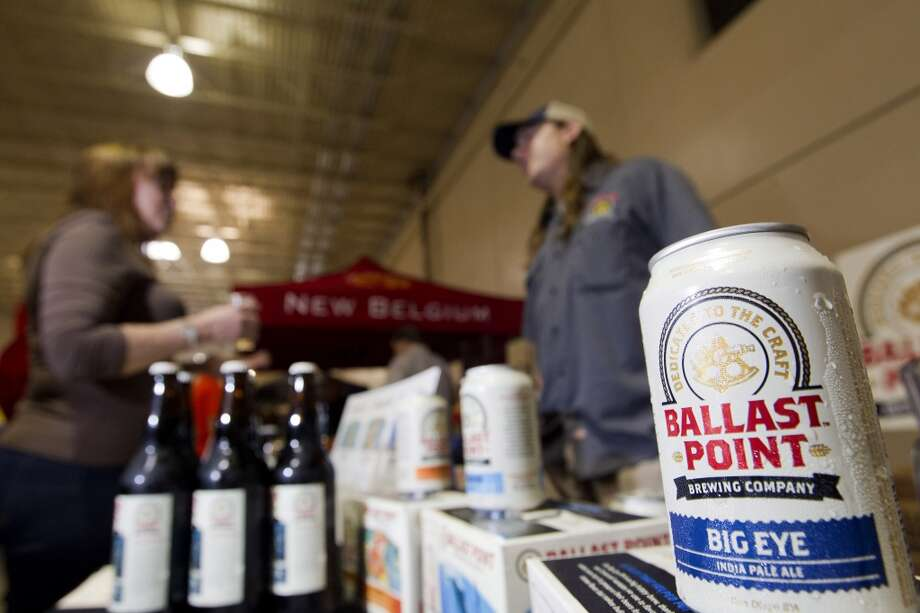 The Ballast Point Brewing Company booth during the Faust Distributing retailer trade show Thursday, April 24, 2014, in Houston. ( Johnny Hanson / Houston Chronicle ) Photo: Johnny Hanson, Houston Chronicle