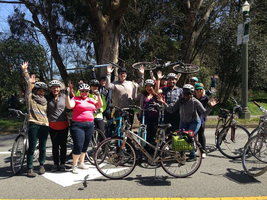 Participants in March's Let's Practice Riding Together event in Golden Gate Park. Another event will be May 25. Photo: Anna Gore, SF Bicycle Coalition