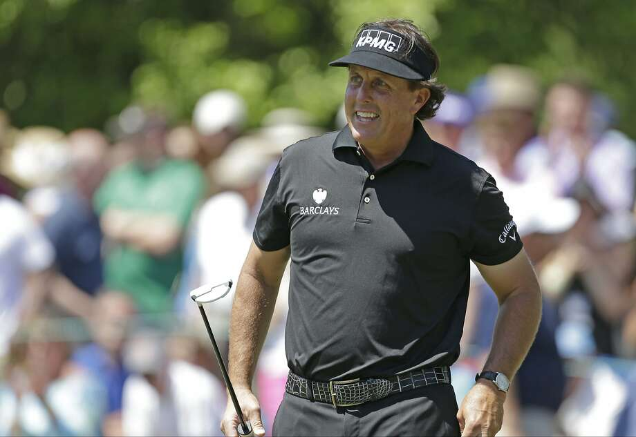 Phil Mickelson: shaky Sunday after a strong Saturday. Photo: Bob Leverone, Associated Press