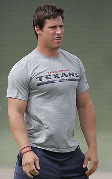 Brian CushingBirthplace: Park Ridge, New JerseyClaim to fame: Houston Texans linebackerCelebrity endorsement: The football player starred in commercials for First Community Credit Union. Photo: James Nielsen, Houston Chronicle / © 2014  Houston Chronicle
