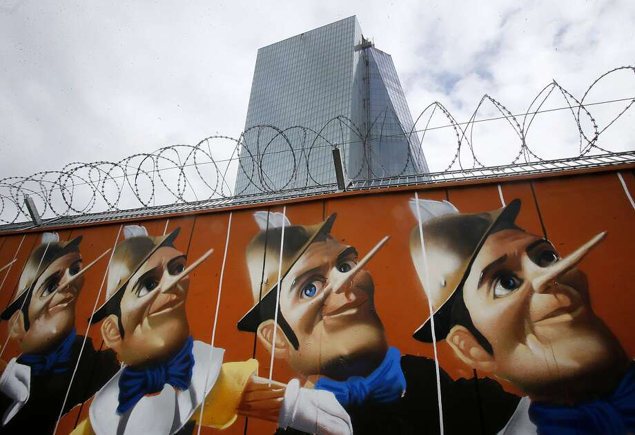 Geppetto turns tagger:A German street artist who calls himself Case painted a graffiti 