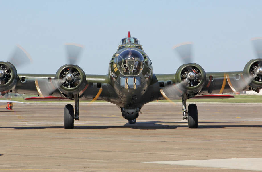 The Texas Raiders is one of only nine remaining B-17 bombers left out of 12,700 built for WWII. Photo: Gulf Coast Wing Commemorative Air Force