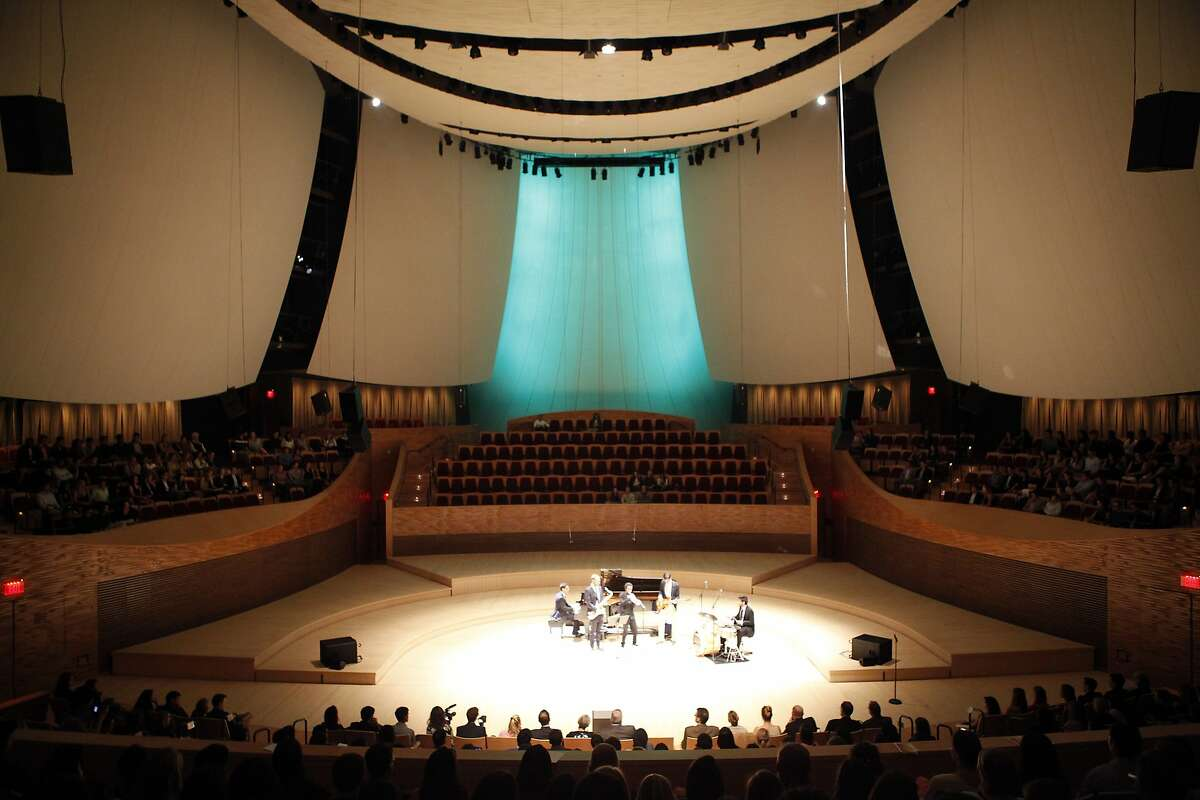 The inside of the Bing Concert Hall during the Senior Arts Gala on the Stanford campus in Stanford, CA, Wednesday April 23, 2014.