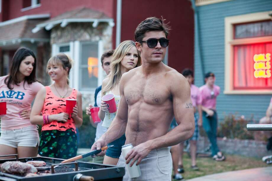 "Left: Zac Efron stars as frat president Teddy Sanders in ""Neighbors,"" while new dad Seth Rogen (above) struggles comically to cope with the chaos. Photo: Glen Wilson, Universal Pictures"