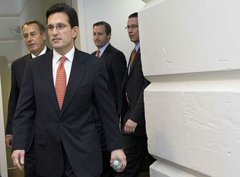 House Majority Leader Eric Cantor and his Republican colleagues have invented a failure story about Obamacare, which is actually working for millions of Americans. Photo: Associated Press File Photo / AP