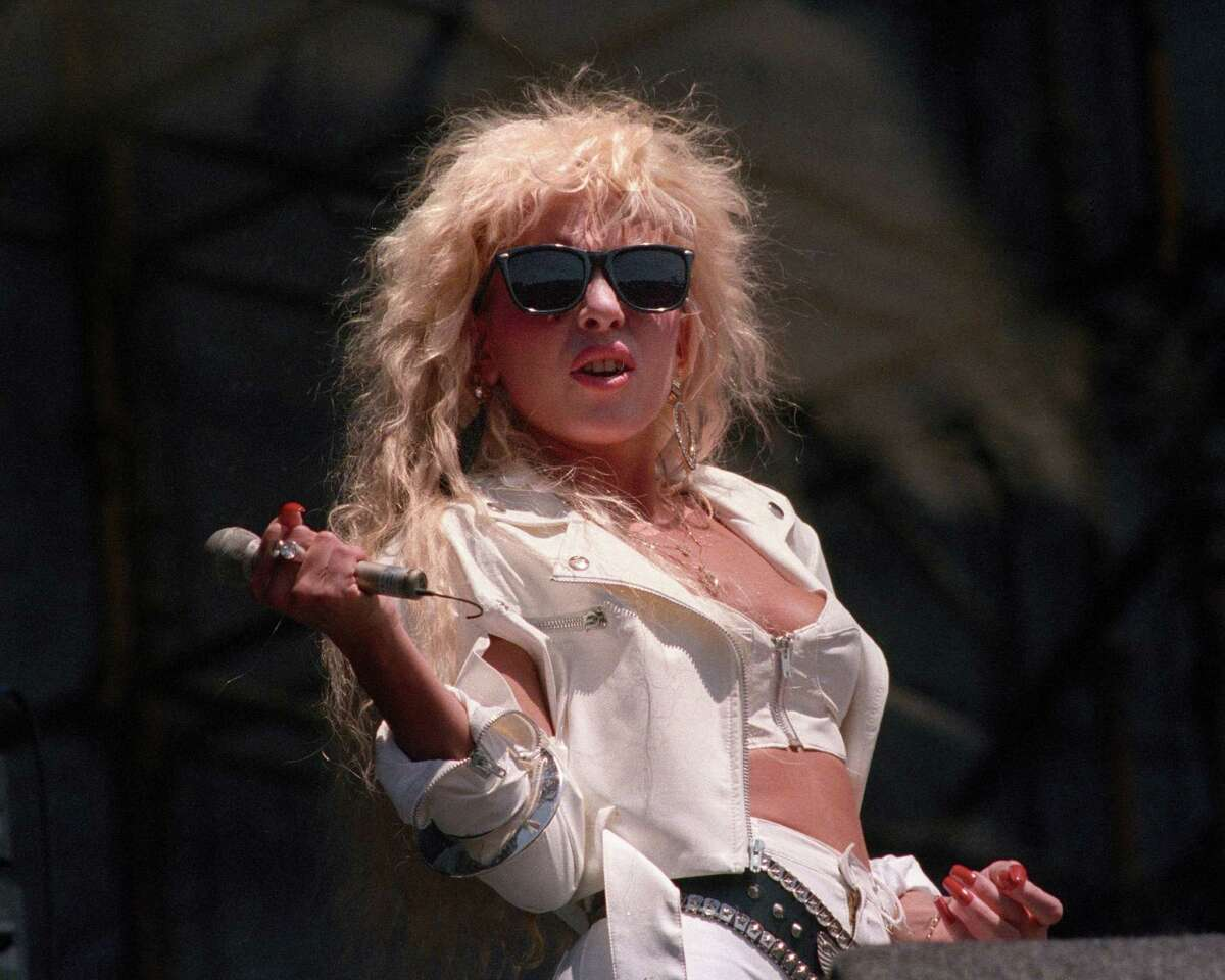ANGELS CAMP, CA-JULY 20: Dale Bozzio performing with Missing Persons at the Mountain Aire Festival at Angel's Camp, CA on July 20, 1986.