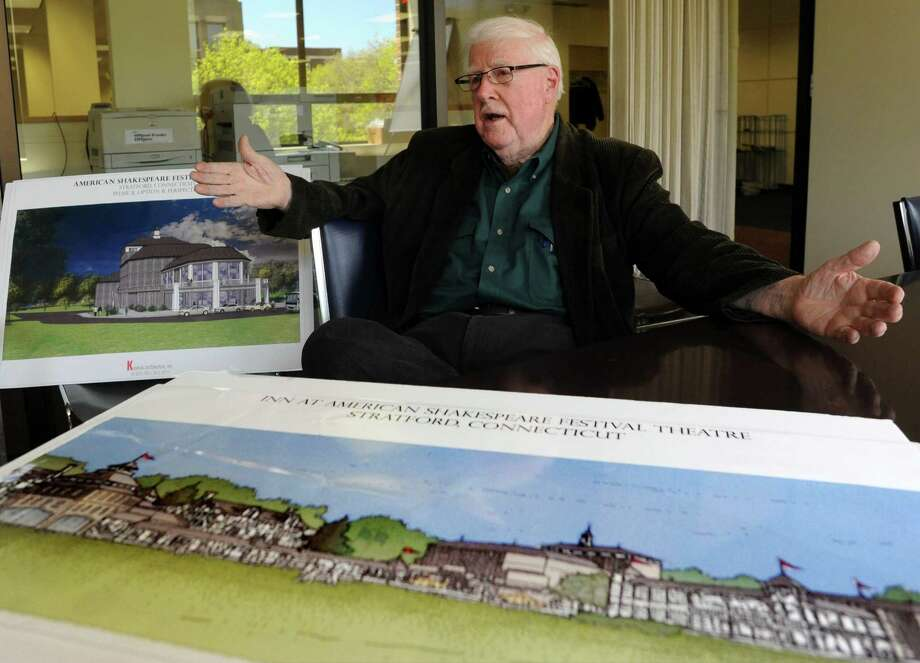 David D. Reed, a developer and long-time theater advocate, will soon be submitting his plan for the American Shakespeare Theatre to officials in Stratford. Reed's plan will leave the existing theater building intact while constructing a hotel on the grounds of the former theater on Elm Street in Stratford, Conn. Photo: Cathy Zuraw / Connecticut Post