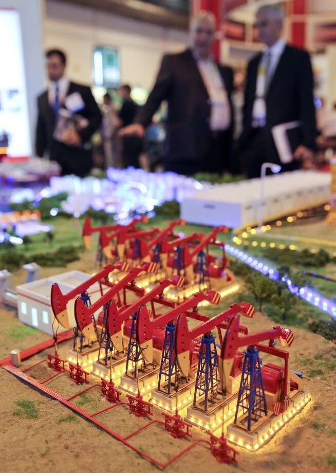 Sinopec Oilfield Services Corporation has a very large oil field and oil industry model on display on day three of OTC on May 7, 2014 inside the NRG Center in Houston, TX. (Photo: Thomas B. Shea/For the Chronicle) Photo: Thomas B. Shea, For The Chronicle