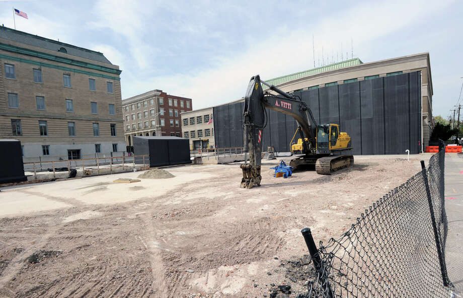 Construction began on the Central Greenwich Fire Station at 15 Havemeyer Place, Greenwich, Conn., Wednesday, May 7, 2014. Photo: Bob Luckey / Greenwich Time