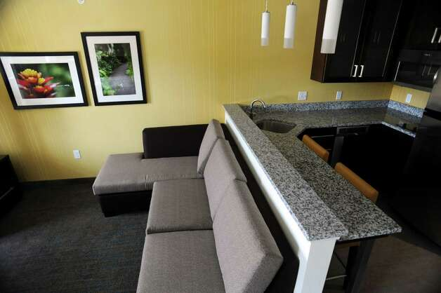 One of the suites in the new Residence Inn by Marriott on Wednesday, May 7, 2014, in Clifton Park, N.Y. (Cindy Schultz / Times Union) Photo: Cindy Schultz / 00026769A