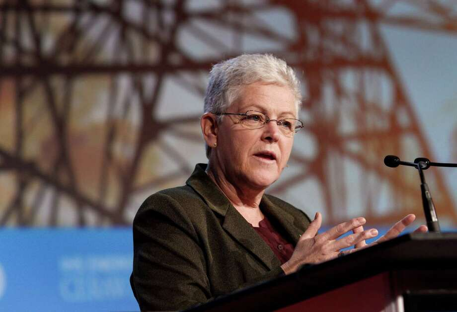 Gina McCarthy, administrator of the U.S. Environmental Protection Agency (EPA), speaks during the 2014 IHS CERAWeek conference in Houston, Texas, U.S., on Thursday, March 6, 2014. IHS CERAWeek is a gathering of senior energy decision-makers from around the world to focus on the accelerating pace of change in energy markets, technologies, geopolitics, and the emerging playing field. Photographer: F. Carter Smith/Bloomberg *** Local Caption *** Gina McCarthy Photo: F. Carter Smith / © 2014 Bloomberg Finance LP