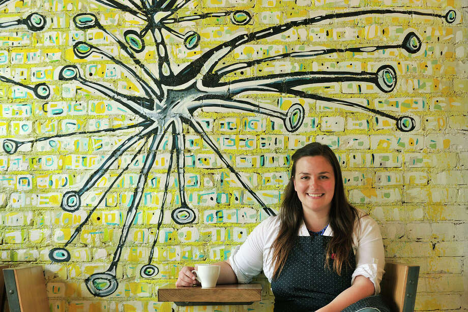 Leyla Dam is the owner of Lorca, a coffee shop on Bedford Street, in Stamford, Conn. Photographed on Wednesday, May 7, 2014. Photo: Jason Rearick / Stamford Advocate