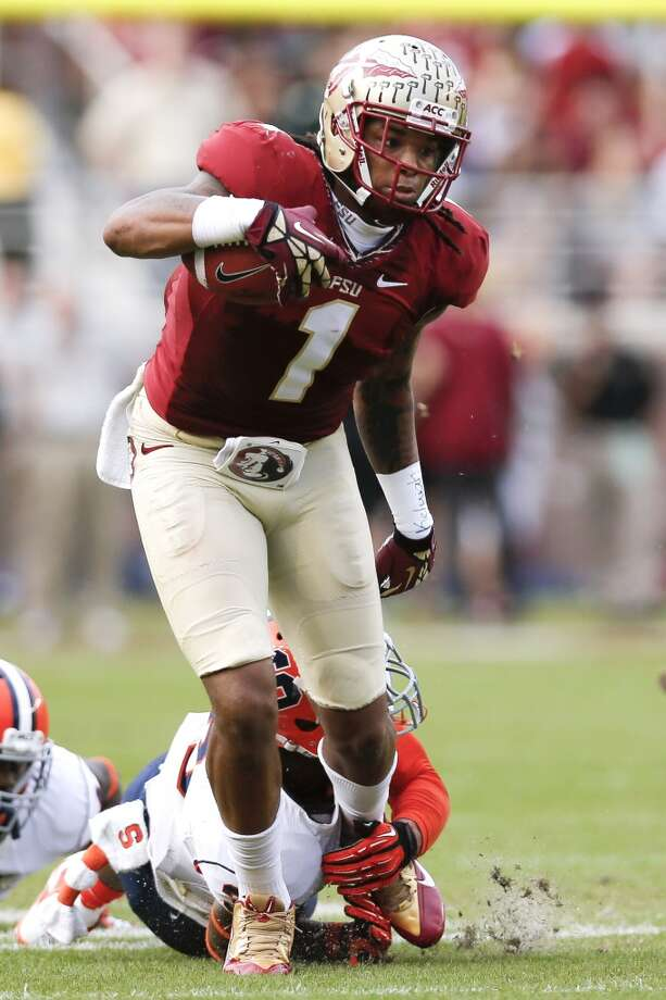 28. Carolina: Kelvin Benjamin, WR, Florida State.  They could go for an offensive tackle, their other desperate need.  Mock 5: Morgan Moses, OT, Virginia. Photo: Don Juan Moore, Getty Images