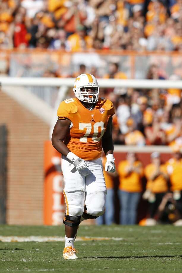 19. Miami: Ja'Wuan James, OT, Tennessee.  A surprise pick, but watch him start immediately and last for years.  Mock 5: Zack Martin, OT, Notre Dame. Photo: Joe Robbins, Getty Images