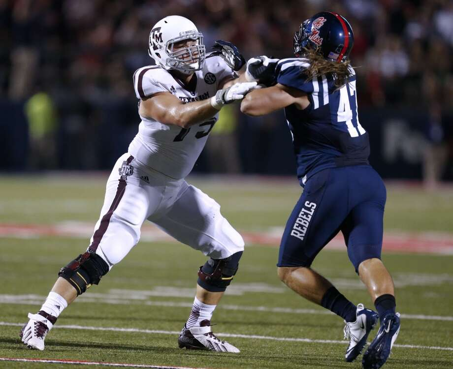 2. St. Louis: Jake Matthews, OT, Texas A&M.  It's a tough decision taking Matthews over Greg Robinson.  Mock 5: Matthews. Photo: Rogelio V. Solis, Associated Press