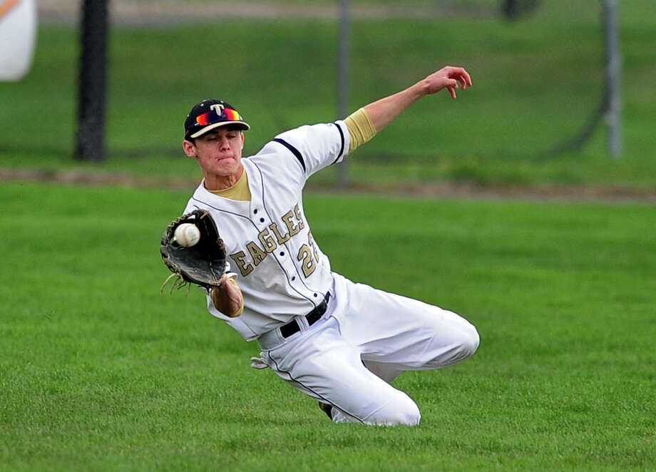 Trumbull's Liam Moore, during baseball action against Westhill in Trumbull, Conn. on Wednesday May 7, 2014. Photo: Christian Abraham / Connecticut Post