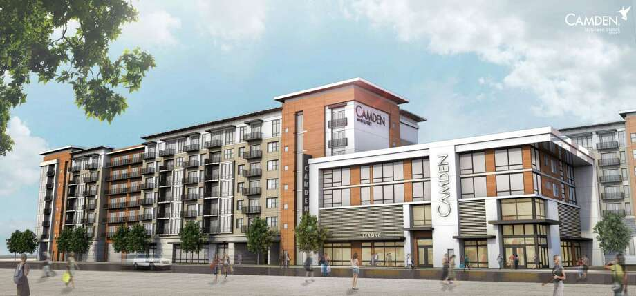This is a rendering of a new Camden apartment development in Midtown, where urbanization is booming. Photo: Courtesty, Camden Property Trust
