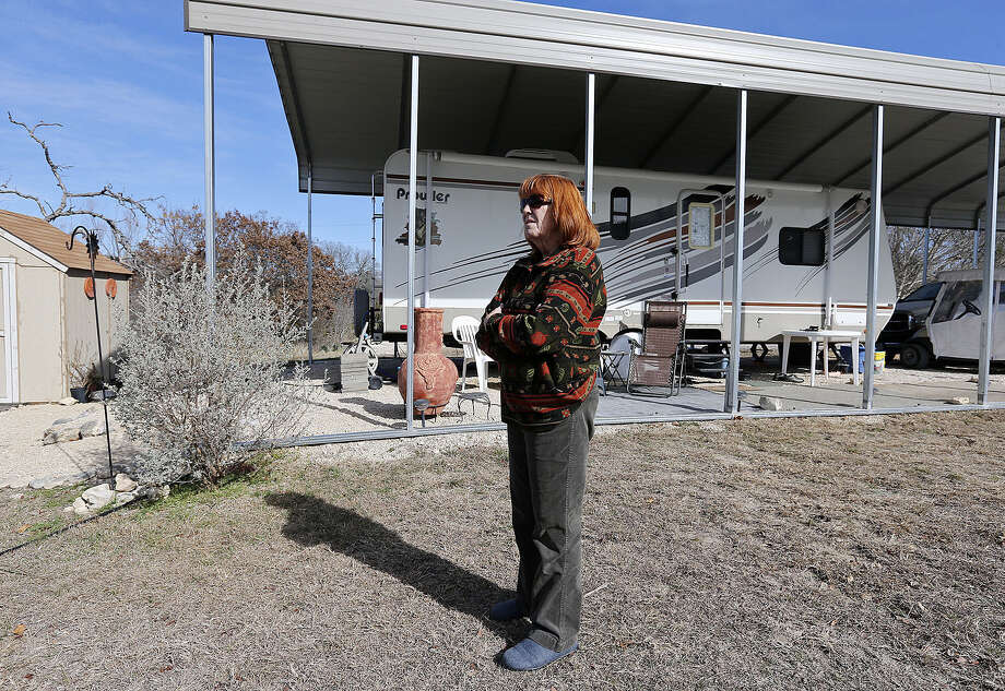 """Linda Corder paid $25,000 to move to the park in 2010. """"The last owners were such poor business people that they pretty well ran it into the ground,"""" she says. """"Hopefully, these new people have a better plan for it."""" Photo: San Antonio Express-News / File Photo / ©2013 San Antonio Express-News"""