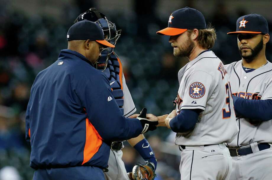 Josh Fields' removal from Tuesday's game, in which he gave up five runs in two-thirds of an inning, was a prelude to his removal from the roster a day later. Photo: Paul Sancya, STF / AP