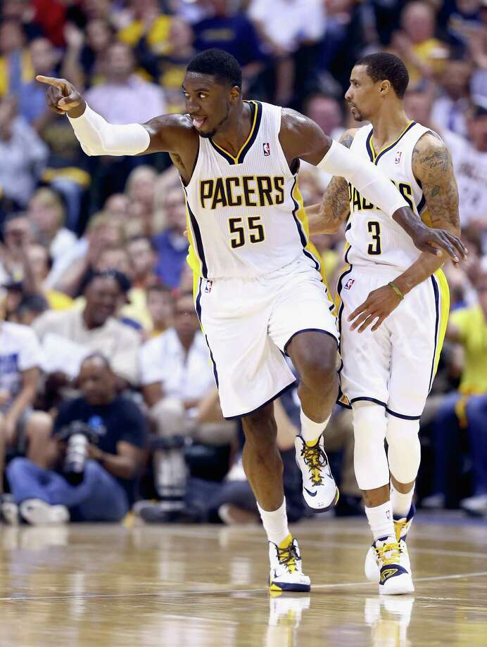 Roy Hibbert answered critics with a 28-point, nine-rebound game. Photo: Andy Lyons, Staff / 2014 Getty Images
