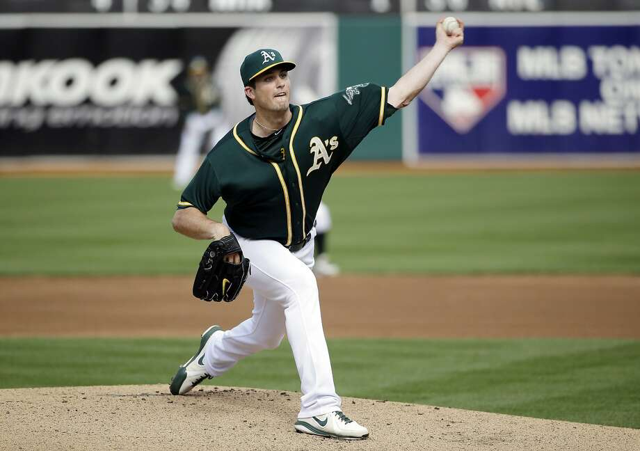 Drew Pomeranz threw five innings of two-hit ball, combining with Dan Otero and Jim Johnson on a three-hit shutout. Photo: Marcio Jose Sanchez, Associated Press