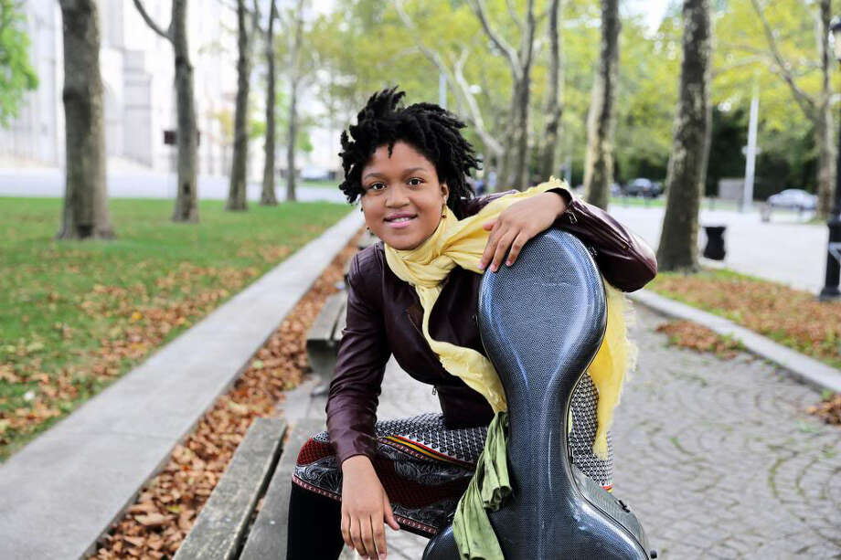 Award-winning cellist Sujari Britt will join the Stamford Young Artists Philharmonic orchestra for the final concert of its season on Sunday, May 18, 2014, at the Palace Theatre in Stamford, Conn. Photo: Contributed Photo / Stamford Advocate Contributed