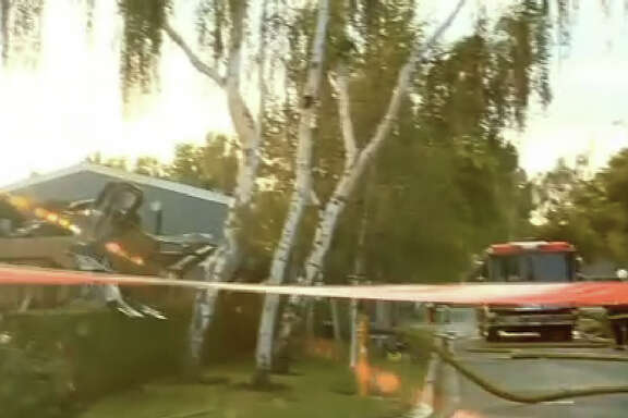 Two bodies were found in a Sunnyvale mobile home that was destroyed in a fire early Thursday.