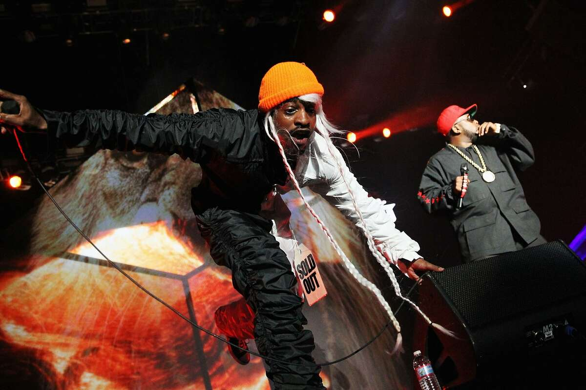 Outkast performs at the Outside Lands Music and Arts Festival in San Francisco. Andre 3000 and Big Boi of Outkast perform during the first day of the 2014 Coachella Valley Music & Arts Festival at the Empire Polo Club in Indio, California. (Karl Walter/Getty Images for Coachella)