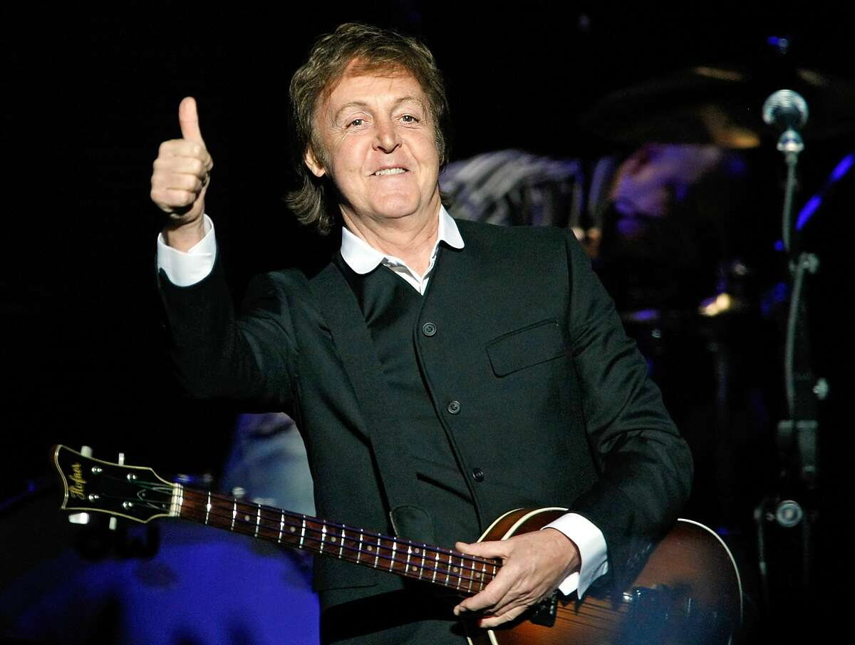 Paul McCartney performs Aug. 14 at Candlestick Park in San Francisco. LAS VEGAS - APRIL 19: Sir Paul McCartney performs at The Joint inside the Hard Rock Hotel & Casino April 19, 2009 in Las Vegas, Nevada. (Photo by Ethan Miller/Getty Images)