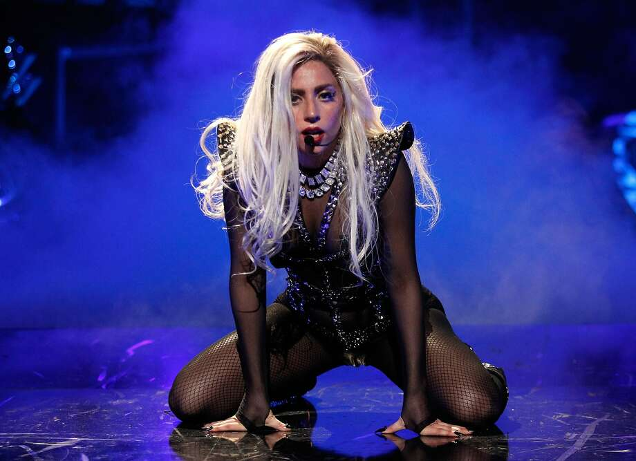 Lady Gaga performs June 3 at the SAP Center at San Jose. Photo: Christopher Polk, Getty Images